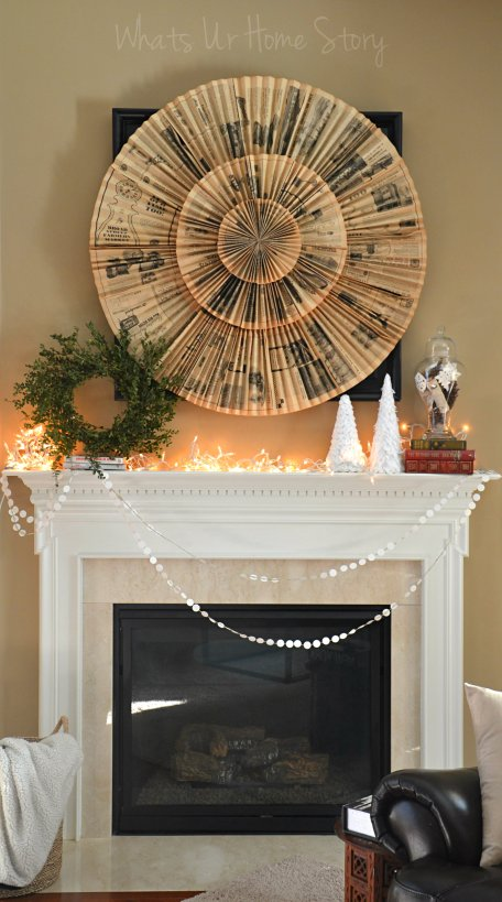 Whats Ur Home Story: Wintery  Mantel Decorations, Simple Winter Mantel, Rustic Winter Mantel