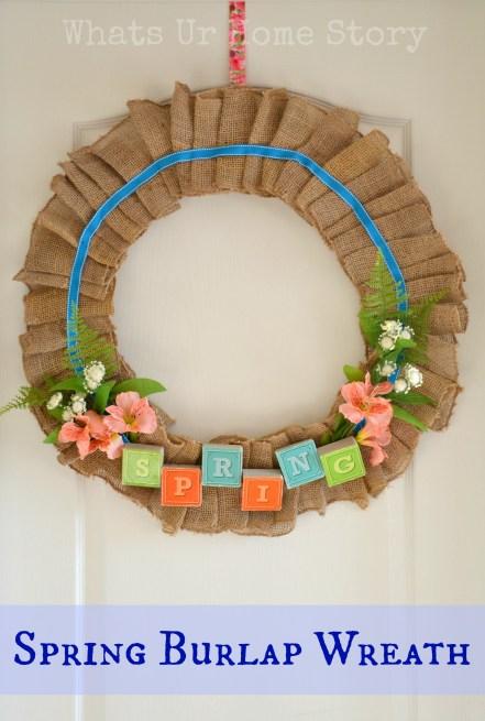 Spring Burlap Wreath & A Mega Linky Party