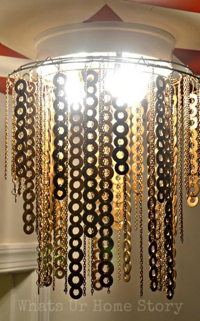 diy washer chandelier