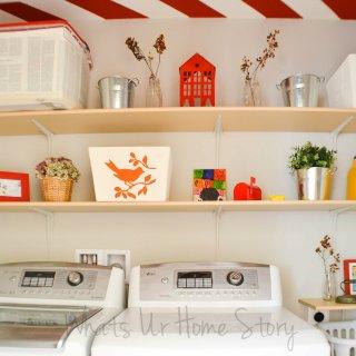 diy shelves for laundry room, DIY Shelves for the Laundry Room
