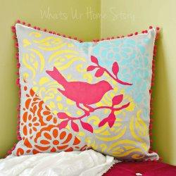 layered stencil pillow