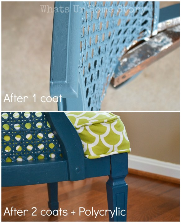How to Paint a Cane Chair, painting a cane back chair