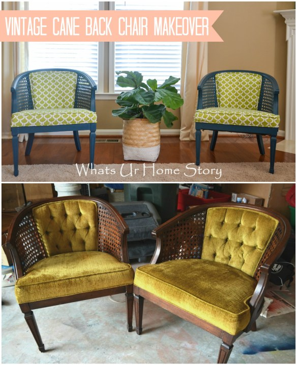 antique cane chair makeover, how to paint a chair