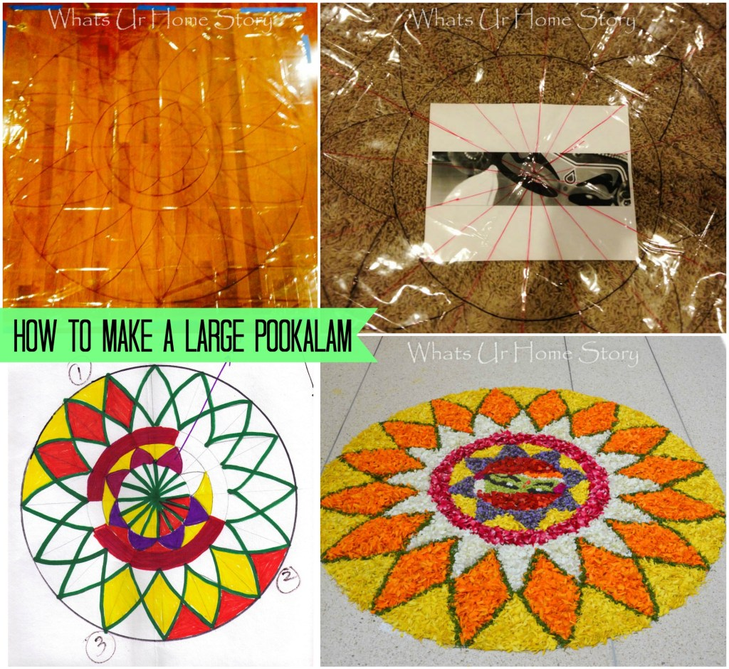 how to make a large pookalam