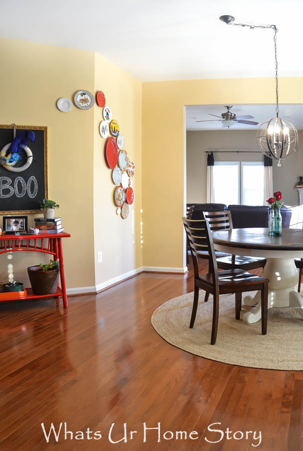 breakfast room orb chandelier