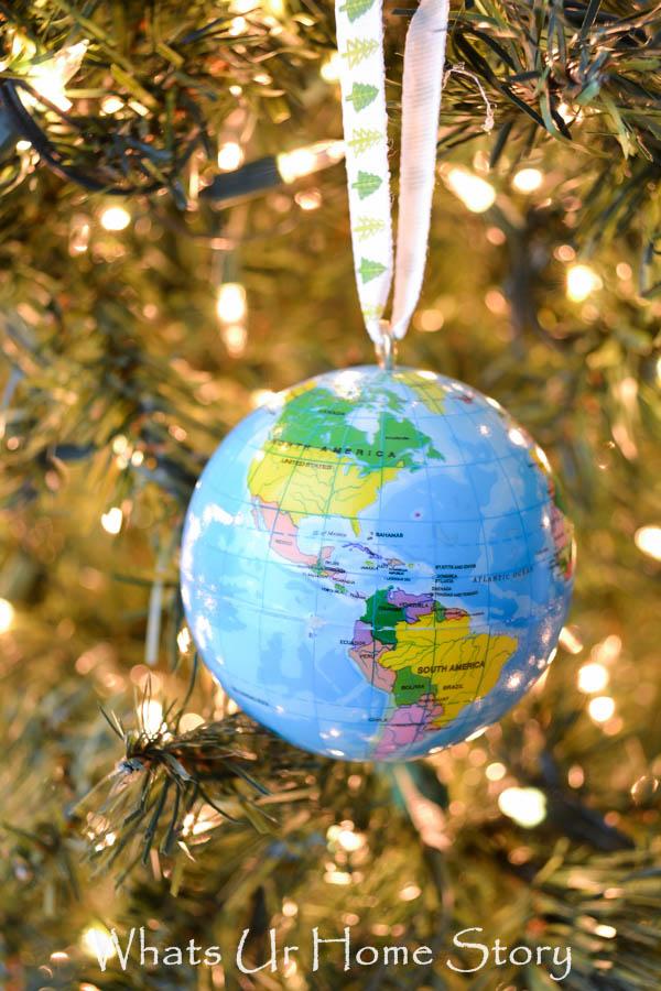 DIY globe ornament