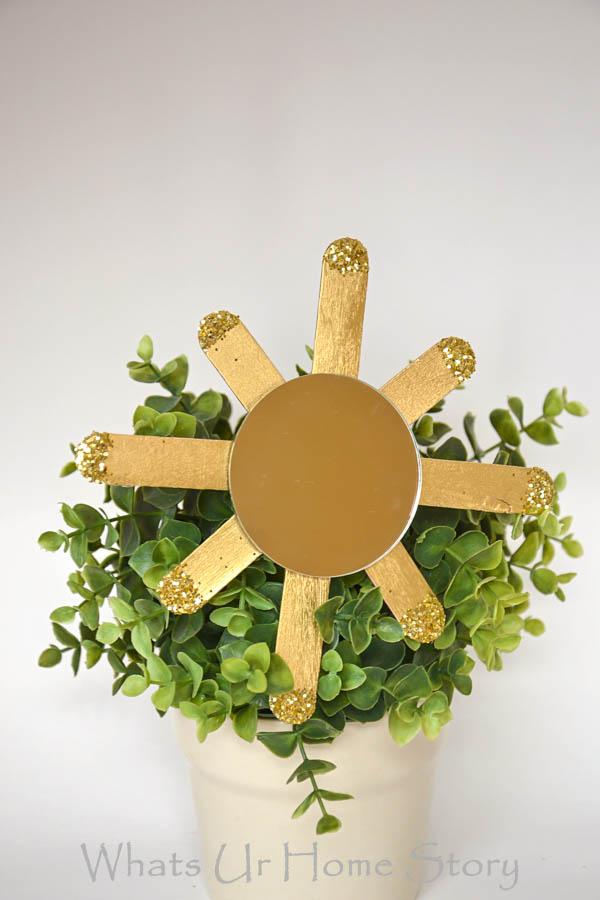 How to make a Sunburst Mirror Ornament