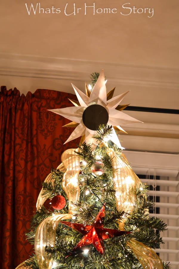 poster board sunburst mirror tree topper
