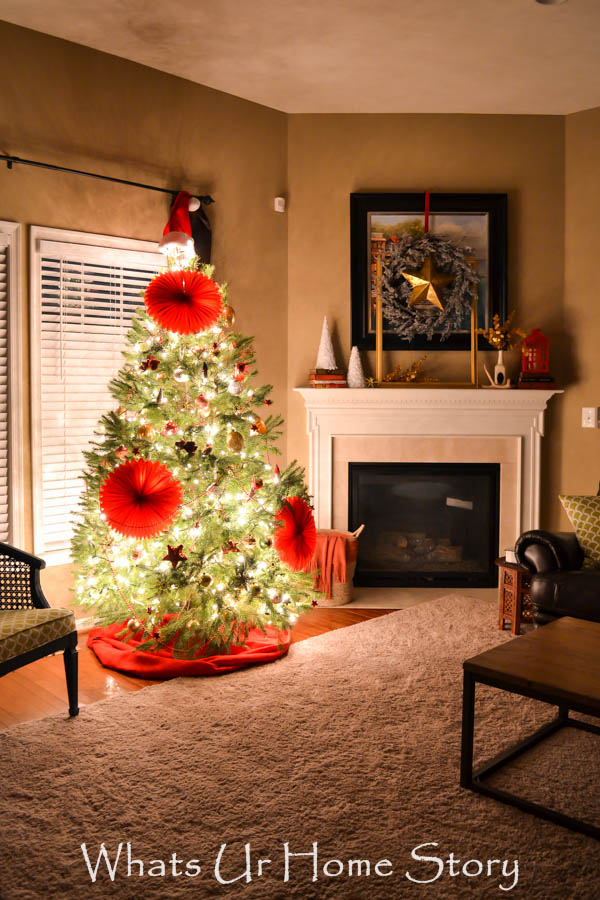 Red Eclectic Christmas tree