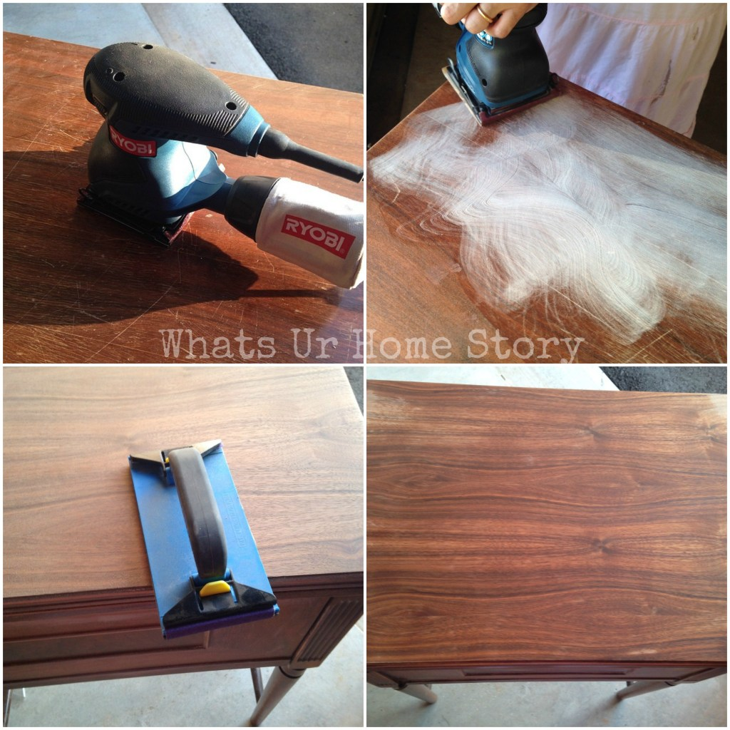 How to sand a vintage sewing machine cabinet