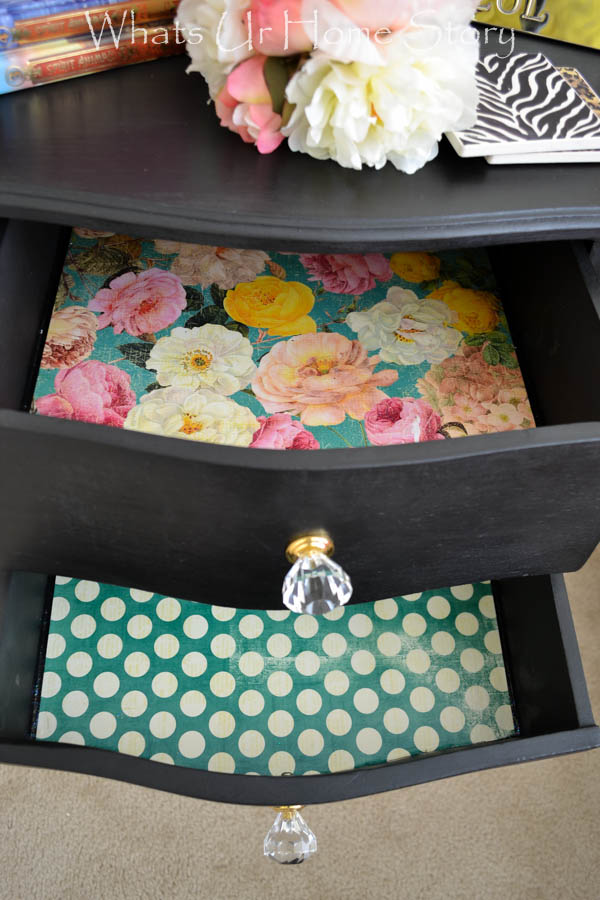 line drawers with pretty paper