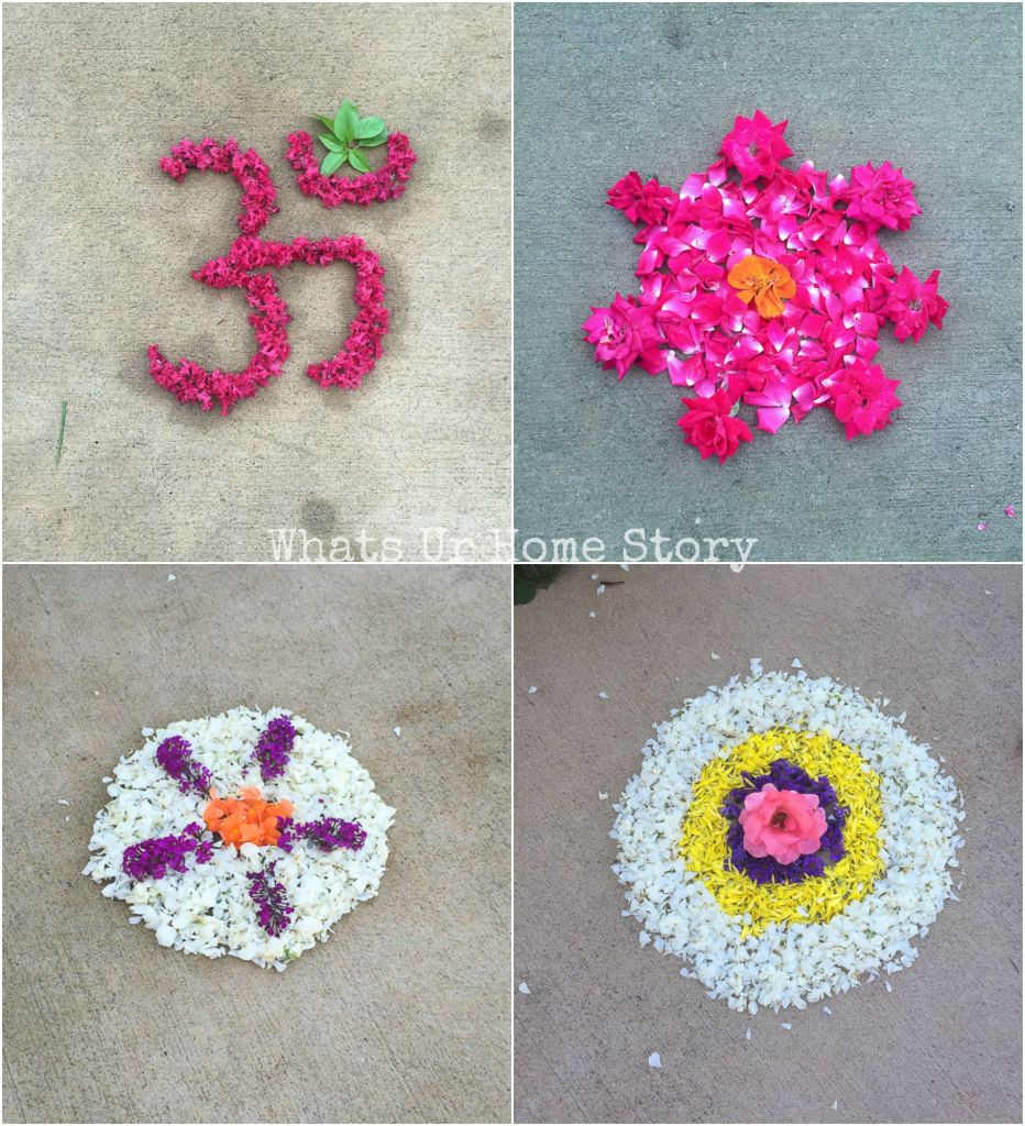 Onam pookalams Day 1 to Day 4