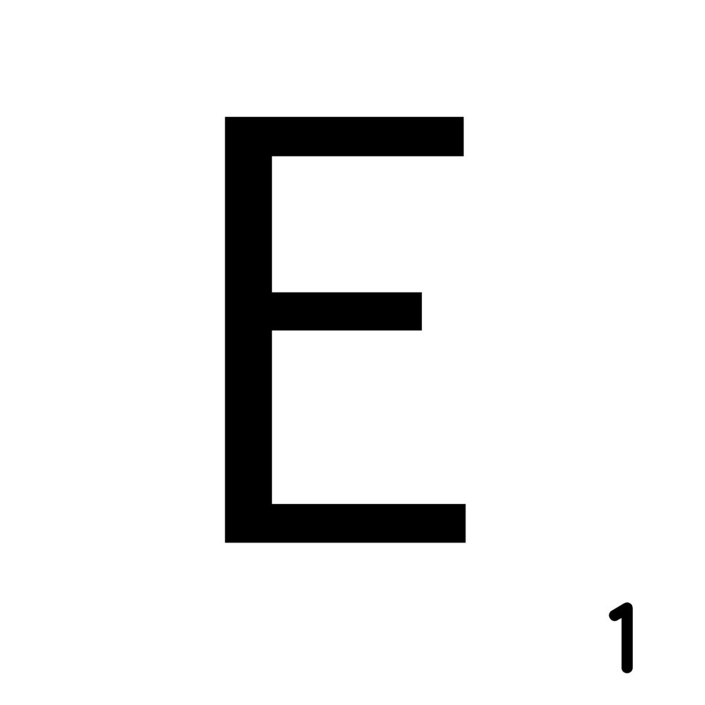 Scrabble Letter E__ Whats Ur Home Story