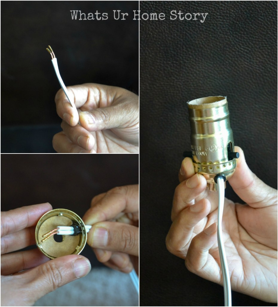 How to turn a bottle into a lamp