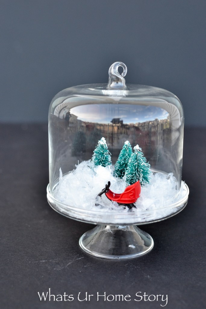 Isn't this mini Christmas cloche the cutest? It is so easy to make!
