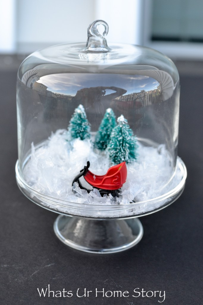 This mini Christmas cloche is sure to bring holiday cheer to your desk