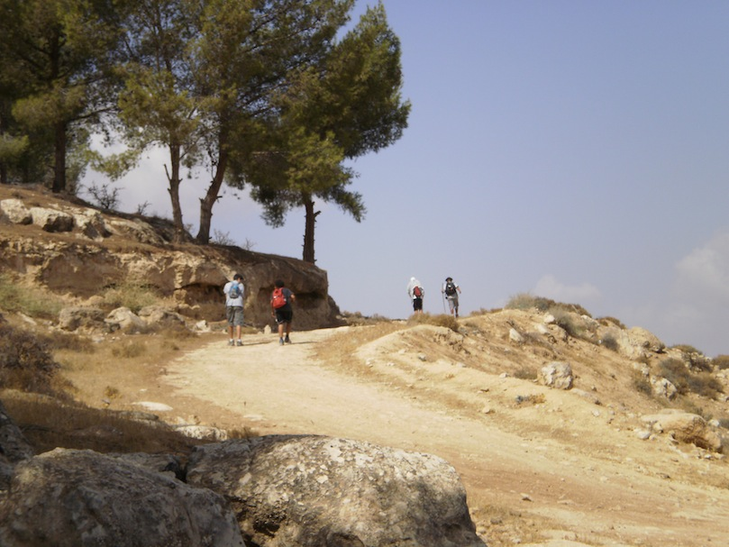 An easy stretch of the 10 mile hike... in Jordan