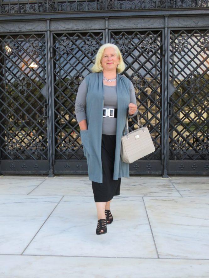 Long vest for dressing up!