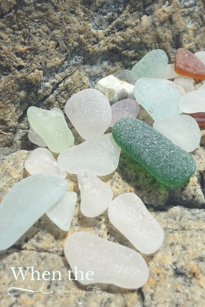 My sea glass inspired color scheme: Cool, calm colors