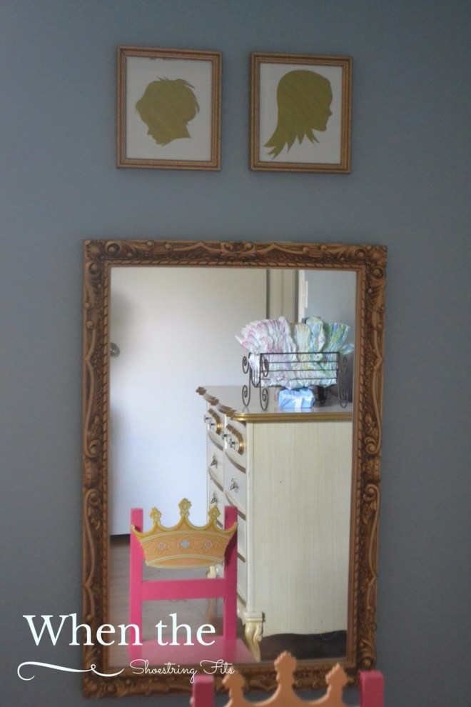 This mirror was a bargain at a garage sale, but it really needed something more...