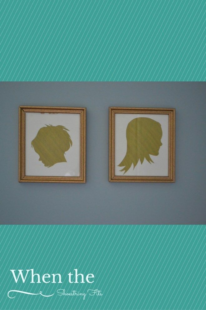 These golden silhouette's really add to the ambience of my little girl's room