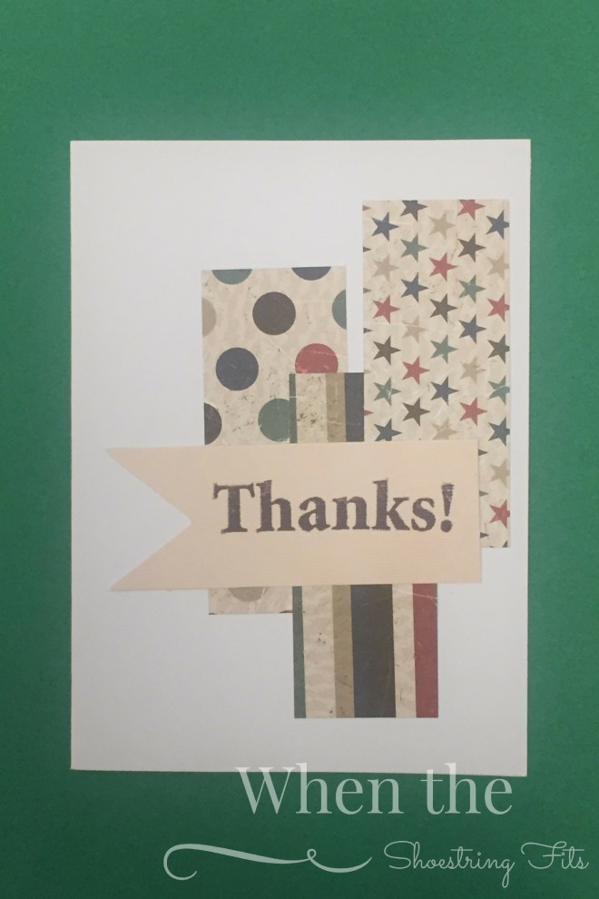 Today's post showcases another simple and quick design for thank you cards.