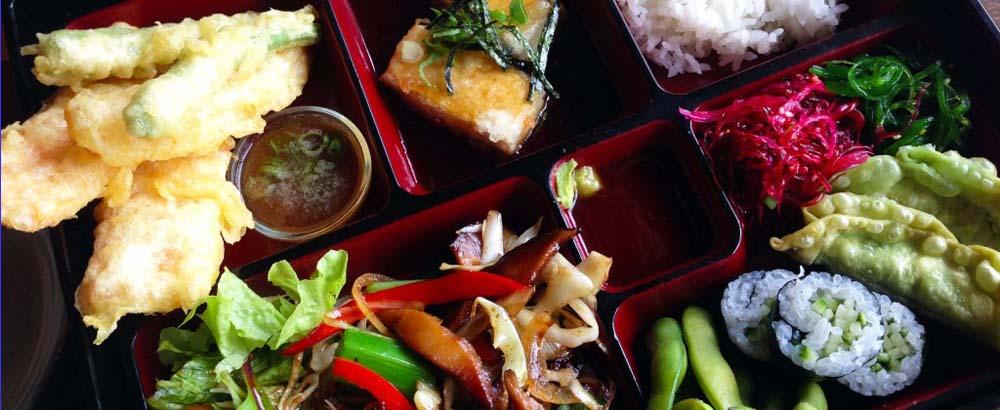 Vegetarian bento box, Miro Restaurant, Manly