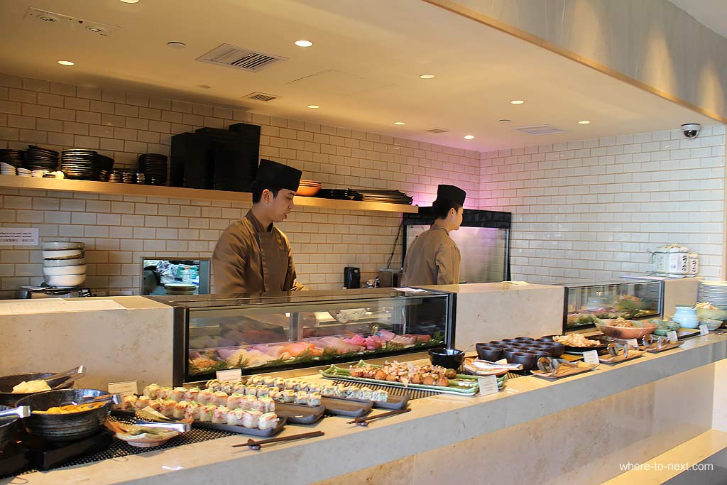 Sushi buffet, Sushi To Hong Kong