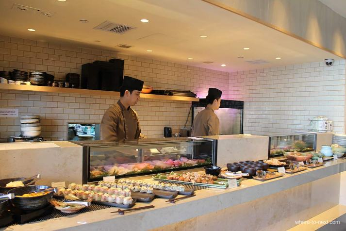 Sushi buffet, Sushi To Hong Kong