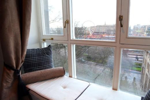 Edinburgh Accommodation, Fraser Suites window