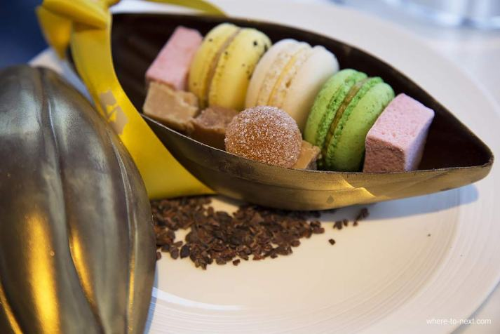 Welcome tea and macarons, The Shangri-La at the Shard, London