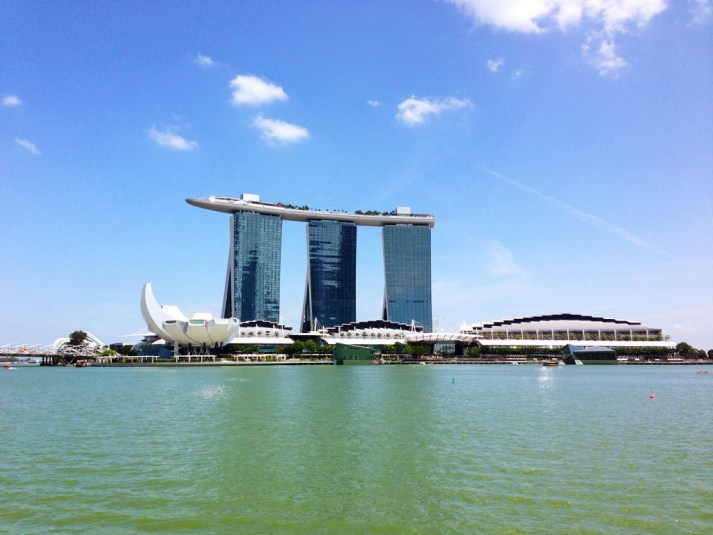 Marina Bay Sands from rive cruise #escapers15