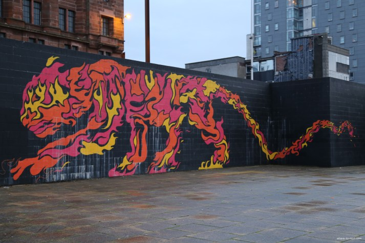 Glasgow Street Art tiger