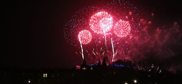 7312 Edinburgh Castle fireworks