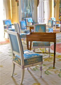French NeoClassical Chair in Blue