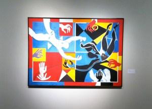 Francoise Gilot 'Applause' Oil on Canvas