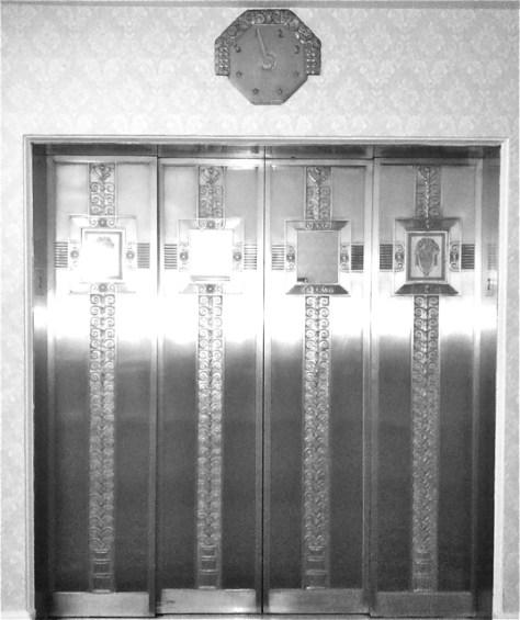 Elevator Doors at the Waldorf Astoria, Photo Romi Cortier