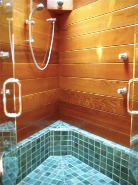 Shower, Tyler Residence by John Lautner, Photo Romi Cortier