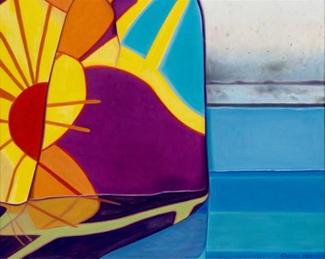 'Bigger Towel', Oil on Canvas, 24 x 30, Romi Cortier