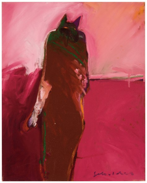 Lot 154, Cat Person #1, Fritz Scholder, 1978, Image Courtesy Los Angeles Modern Auctions