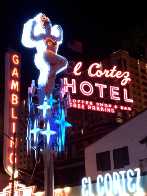 Vintage Neon Swimmer Sign, Las Vegas, Photo Romi Cortier