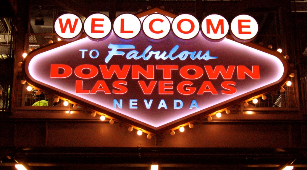 Vintage Las Vegas Welcome Sign, Las Vegas, Photo Romi Cortier