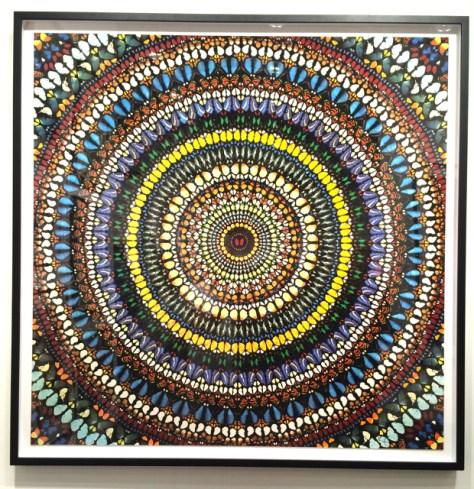 Covenant with Diamond Dust, 2013, Silkscreen Print with Glaze and Diamond Dust, 53 1/2 x 53 1/2, Damien Hirst, $55,000, Heather james Fine Art, Photo Romi Cortier