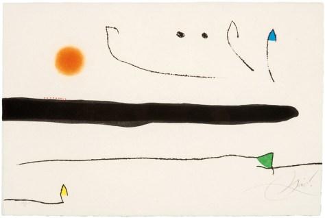 Joan Miro, Lot 167, Image Courtesy LAMA