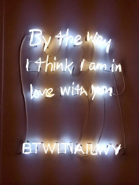 BTWITIAILWY, Neon Sign, Edition 2/3, 32 x 40, Rachel Hovnanian, $9,000, Imago Galleries, Photo Romi Cortier