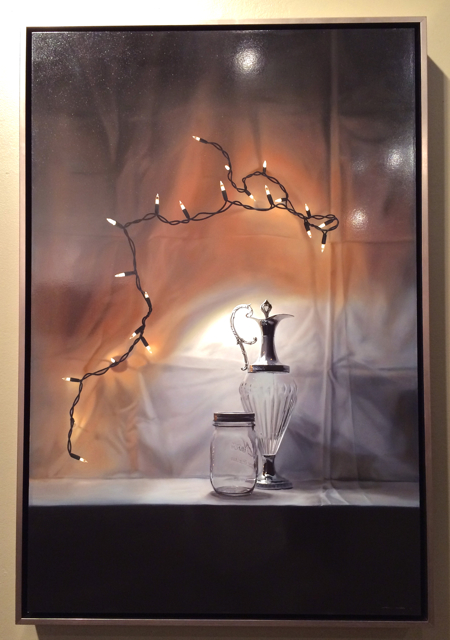 Archipelago & Glass, 2014, Oil on Pane, Tom Betts, $12,800, Dawson Cole Fine Art, Photo Romi Cortier