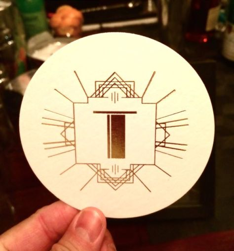 Art Deco Logo for the Taylor Residence, Photo Romi Cortier
