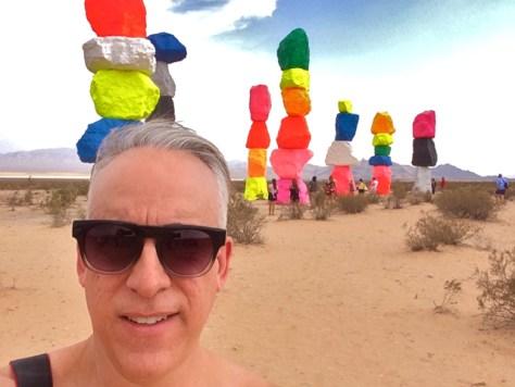 Art Selfie, Seven Magic Mountains, Nevada, Photo Romi Cortier