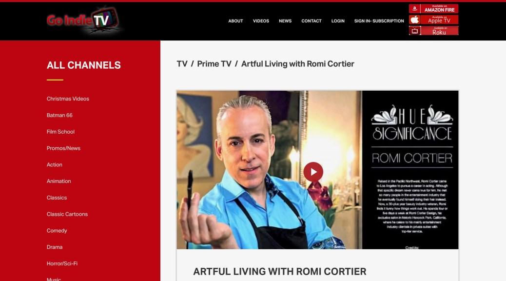 Artful Living with Romi Cortier on Go Indie TV, Photo Allen Carrasco