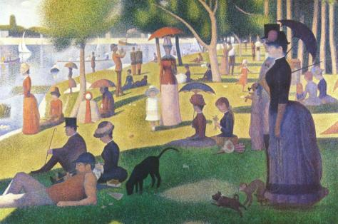 Sunday Afternoon on the Island of La Grand Jatte, Georges Seurat, 1884-86, Art Institute of Chicago